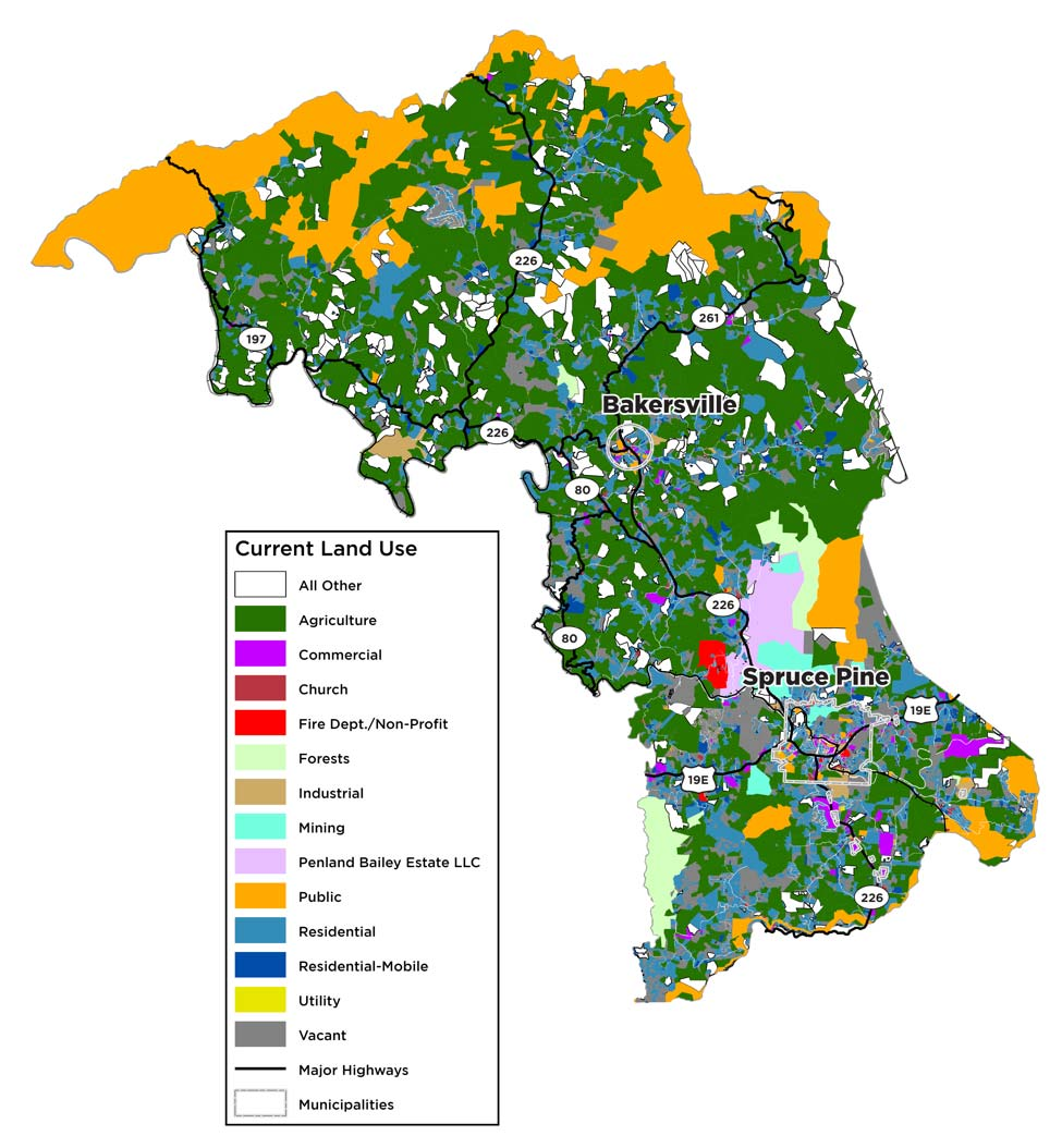 Mitchell County Land Use Map